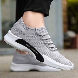 Men's Stylish and Trendy Grey Solid Mesh Casual Sports Shoes