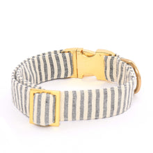 Load image into Gallery viewer, Charcoal Stripe Dog Collar