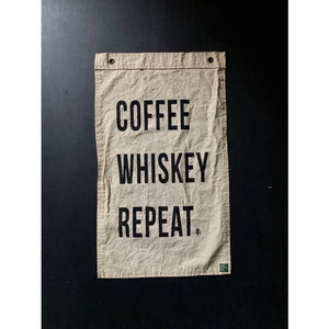 Coffee Whiskey Repeat Flag