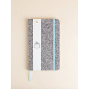 Light Grey Felt Cover Journal