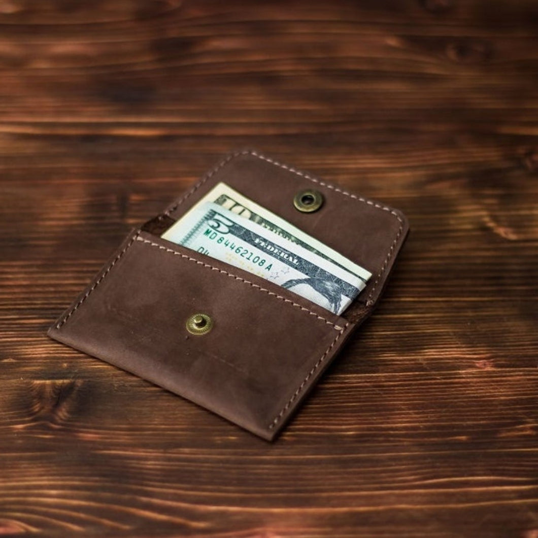 Leather card holder - T E R R A