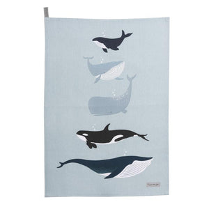 Whales Statement Tea Towel - T E R R A