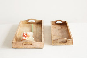 Rectangle Mango Wood Tray - T E R R A