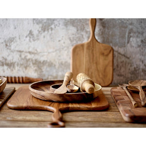 Hand-Carved Acacia Wood Standing Spoon Set - T E R R A