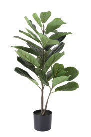 Faux Fiddle Fig Leaf Plant in Pot - T E R R A