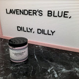 """LAVENDER'S BLUE, DILLY, DILLY"" Lavender Whipped Soap 5oz."