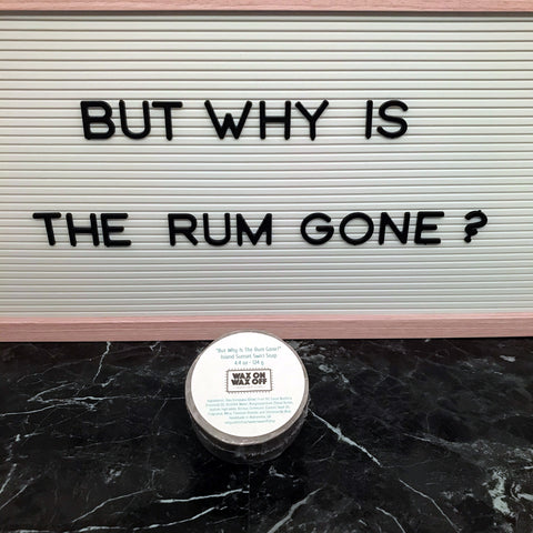 """BUT WHY IS THE RUM GONE?"" Island Sunset Swirl Bar Soap 4.4oz."
