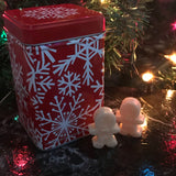 """BUT WHAT ABOUT SANTA'S COOKIES?"" Christmas Cookie Gingerbread Man Wax Melts 3oz. in Holiday Tin"