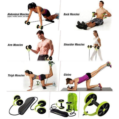 Power Roll Ab Trainer Wheel - The Ultimate Ab Roller