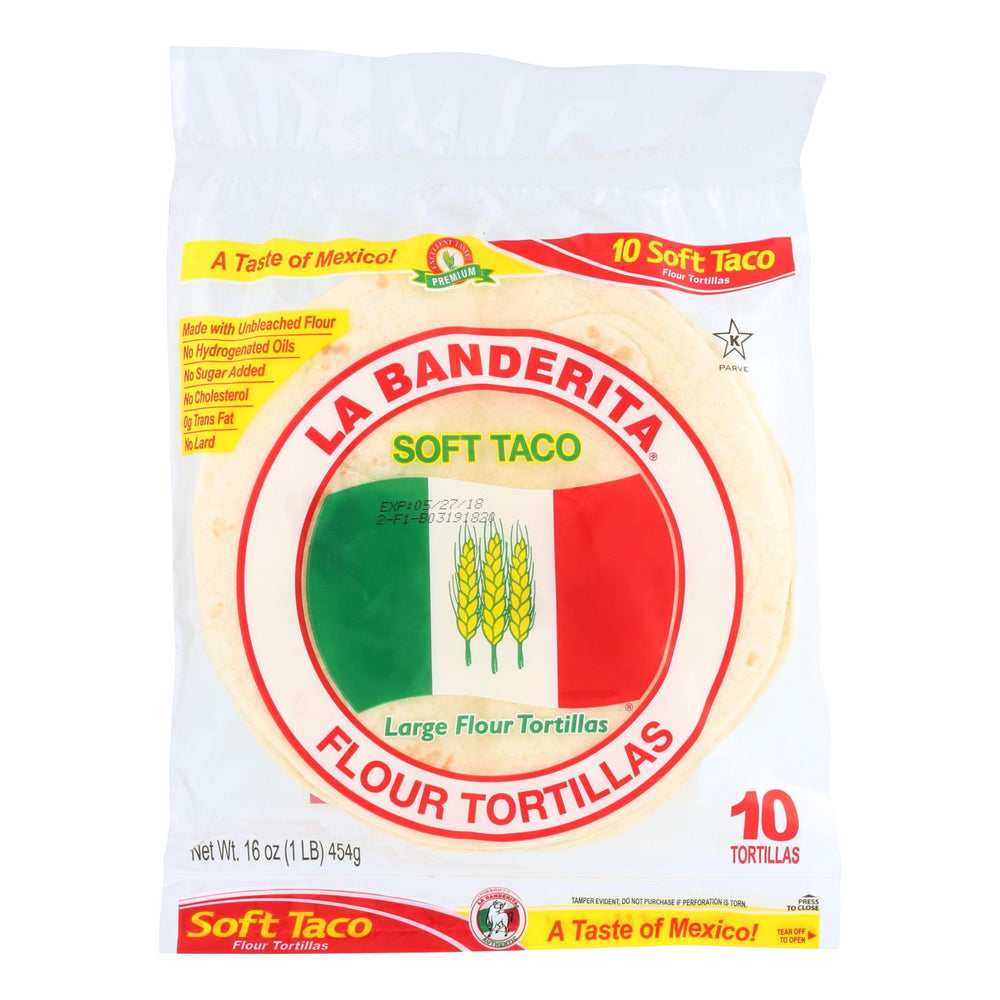 La Banderita Soft Taco - Flour - Case Of 12 - 16 Oz.