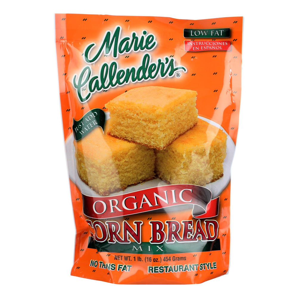 Marie Callender's Organic Mix Corn Bread Original - Case Of 12 - 16 Oz