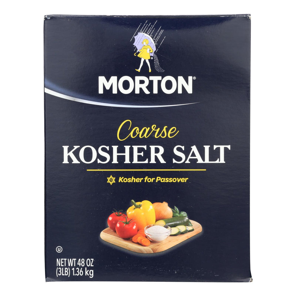 Morton Coarse Kosher Salt - Case Of 12 - 48 Oz