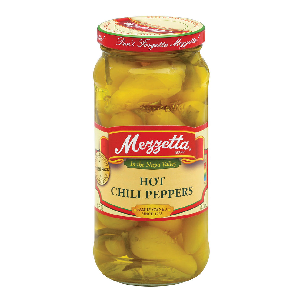 Mezzetta Hot Chili Peppers - Case Of 6 - 16 Oz.