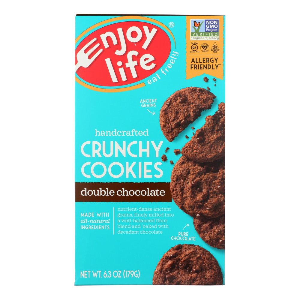 Enjoy Life - Cookie - Crunchy - Double Chocolate - Gluten Free - 6.3 Oz - Case Of 6