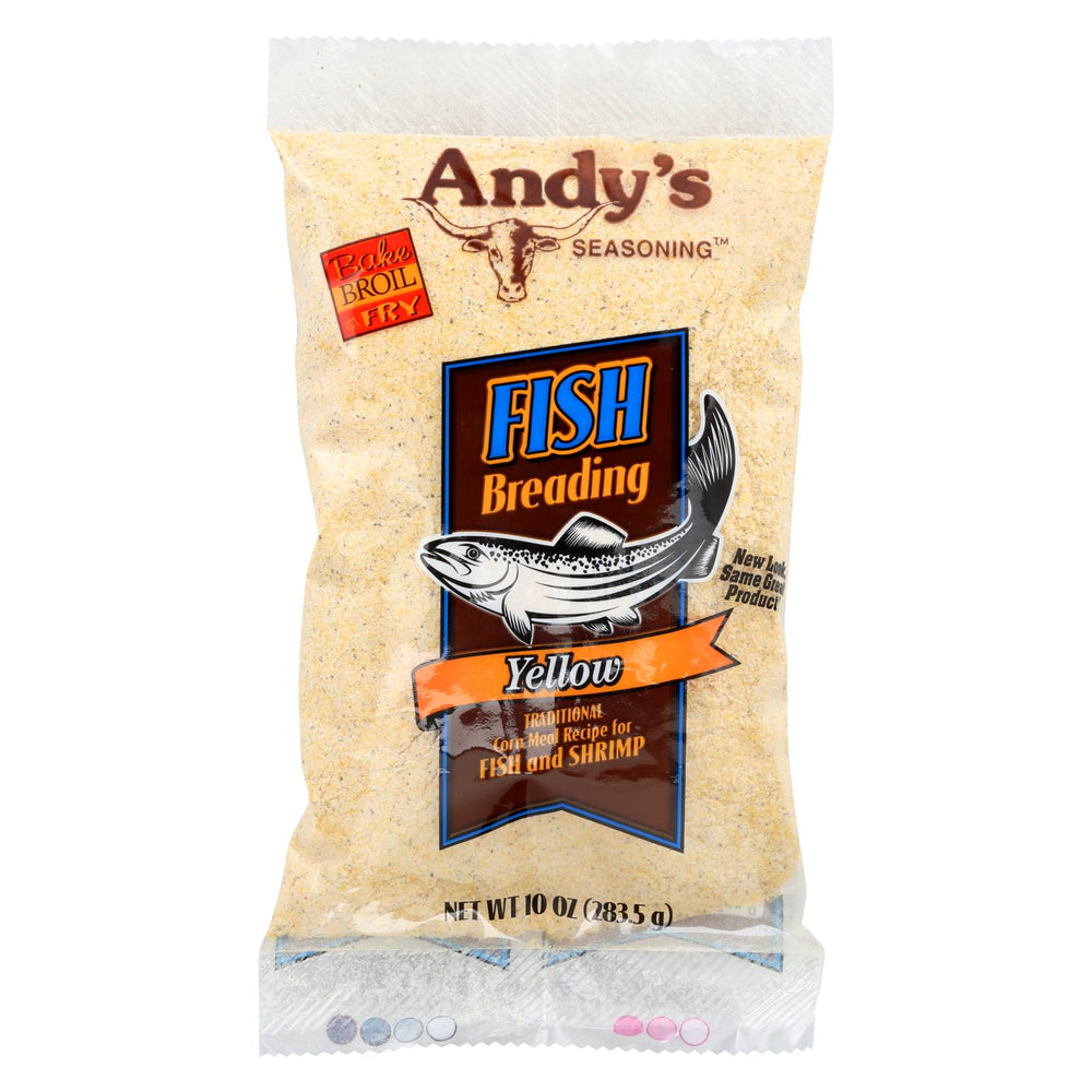 Andys Batter - Fish - Yellow - Case Of 12 - 10 Oz