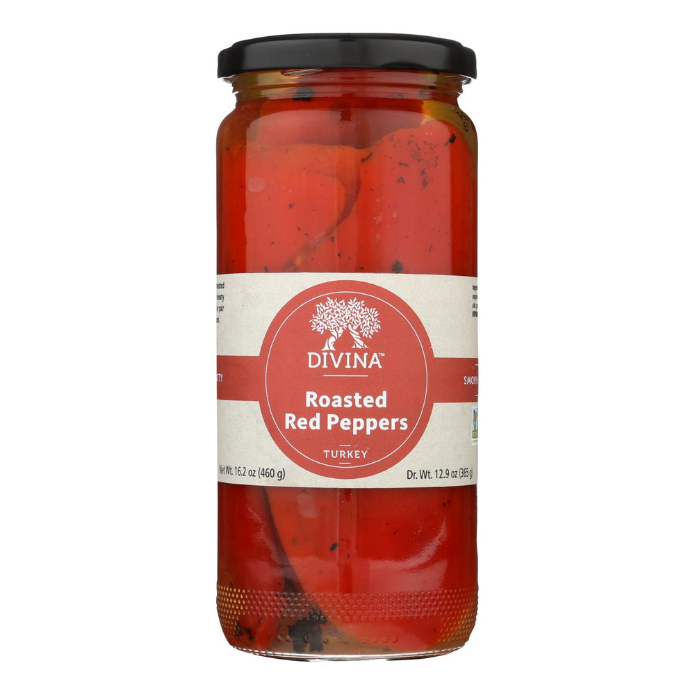 Divina - Roasted Sweet Red Peppers - Case Of 6 - 13 Oz.