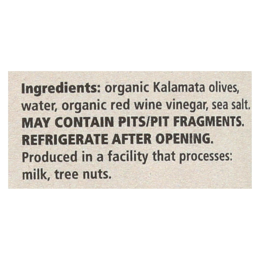 Divina - Organic Pitted Kalamata Olives - Case Of 6 - 6 Oz.