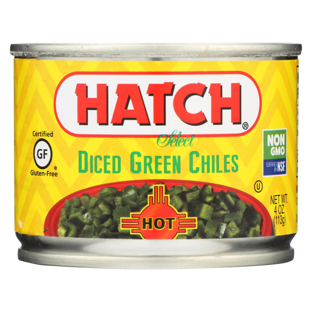 Hatch Chili Hatch Diced Hot Green Chilies - Diced Green Chiles - Case Of 24 - 4 Oz.