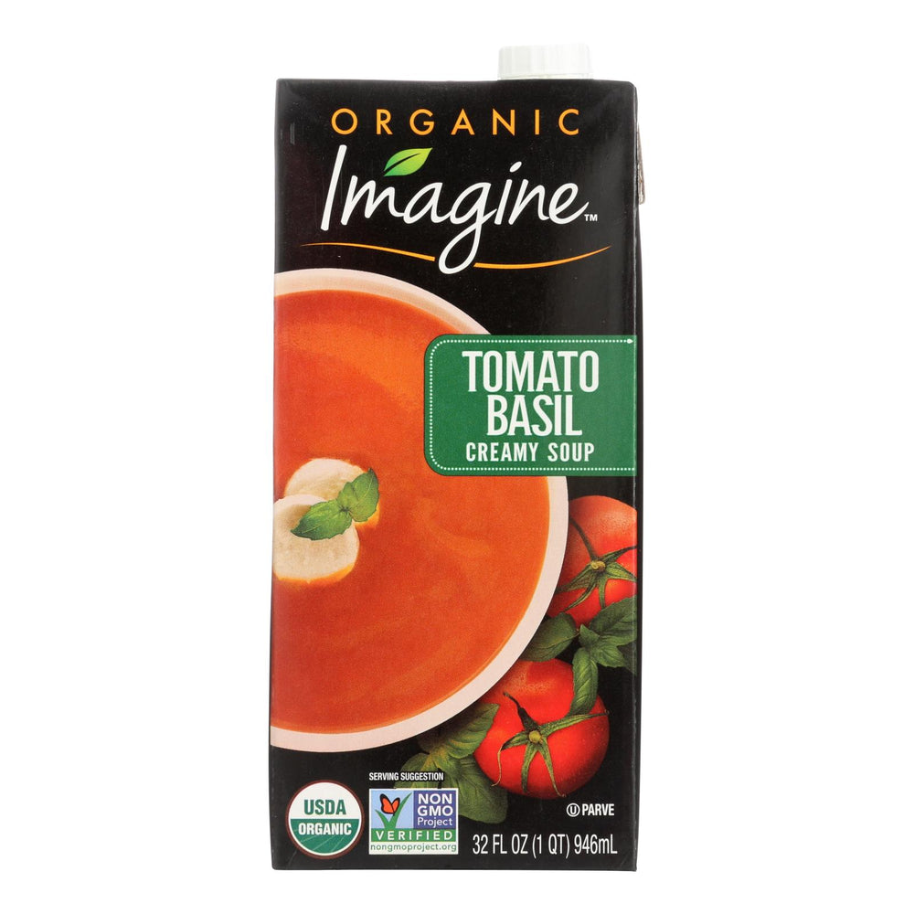 Imagine Foods Tomato Basil Soup - Creamy - Case Of 12 - 32 Oz.