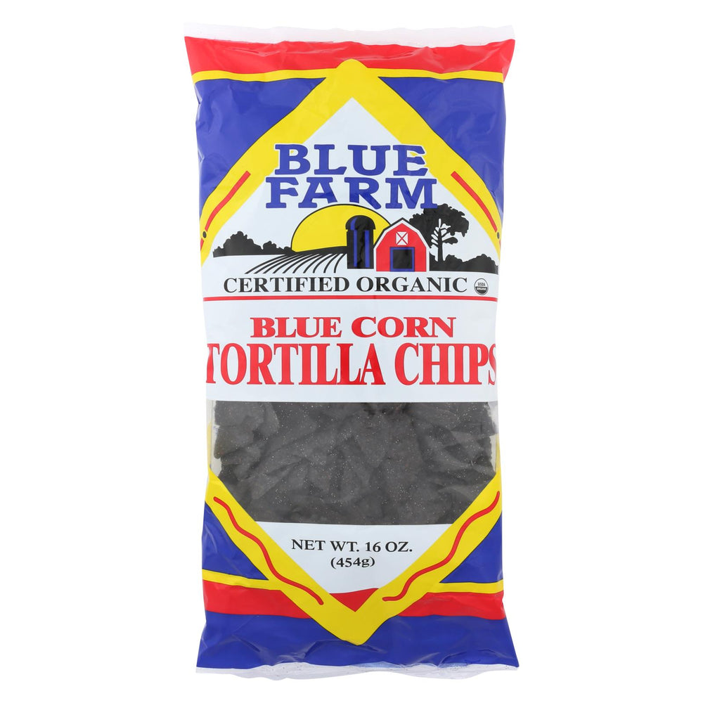 Blue Farm - Organic Blue Corn Tortilla Chips - Case Of 12 - 16 Oz