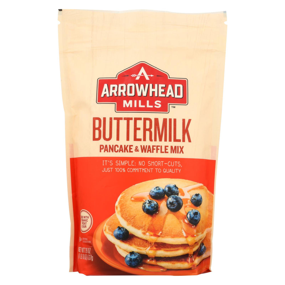 Arrowhead Mills - Organic Buttermilk Pancake And Waffle - Mix - Case Of 6 - 26 Oz.