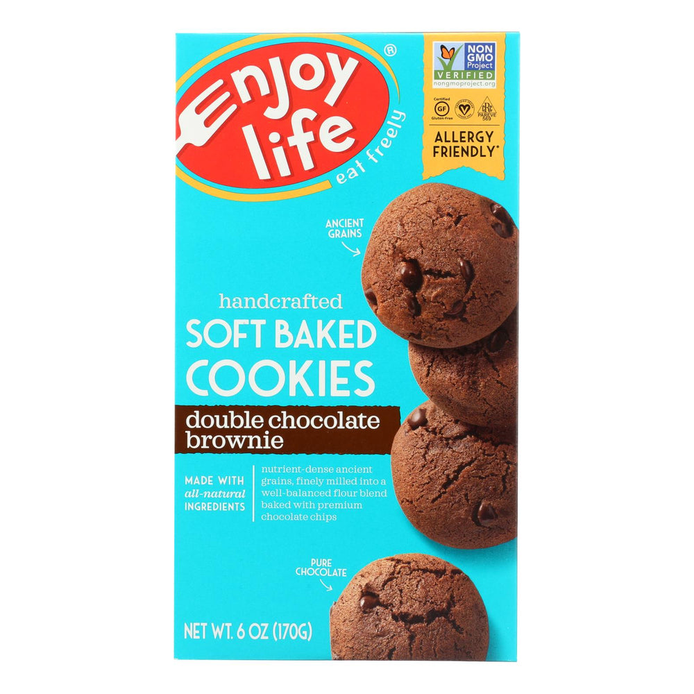 Enjoy Life - Cookie - Soft Baked - Double Chocolate Brownie - Gluten Free - 6 Oz - Case Of 6