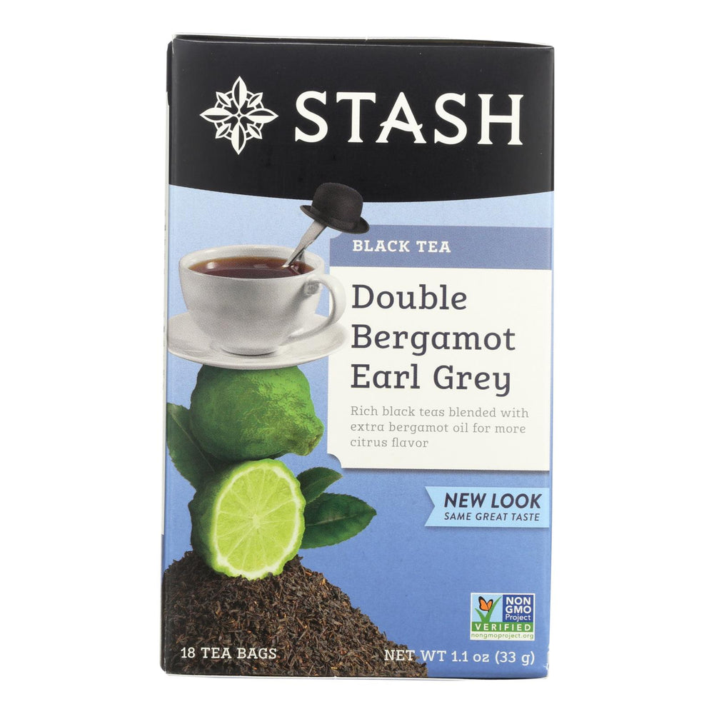Stash Tea Earl Grey Black - Double Bergamot - Case Of 6 - 18 Bags