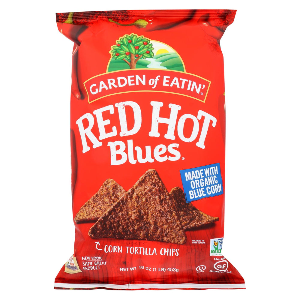 Garden Of Eatin' Red Hot Blues - Red Hot - Case Of 12 - 16 Oz.