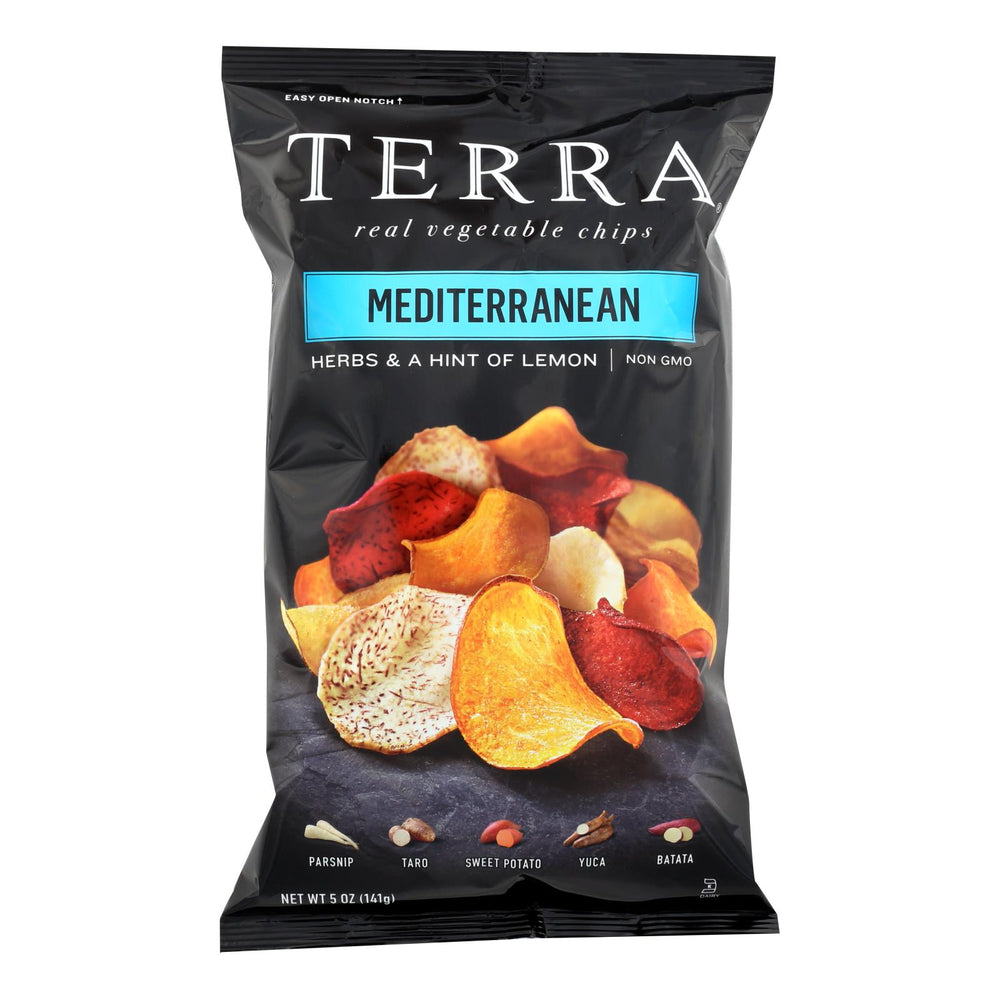 Terra Chips Exotic Vegetable Chips - Mediterranean - Case Of 12 - 5 Oz.