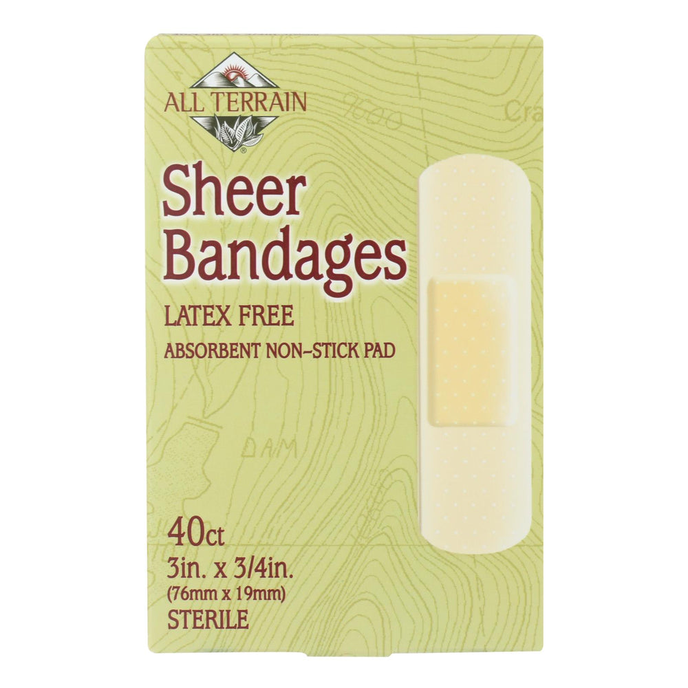 All Terrain - Bandages - Sheer - 3-4 In X 3 In - 40 Ct