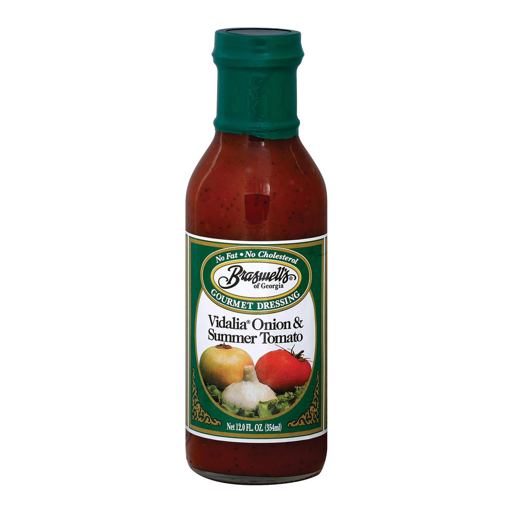 Braswell's - Gourmet Dressing - Vidalia Onion And Summer Tomato - Case Of 6 - 12 Fl Oz.
