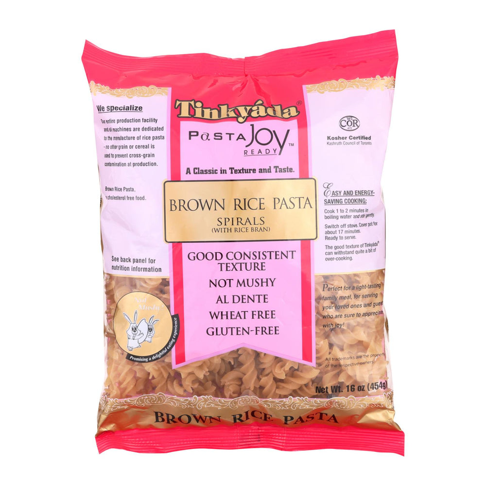 Tinkyada Brown Rice Spirals - Case Of 12 - 16 Oz