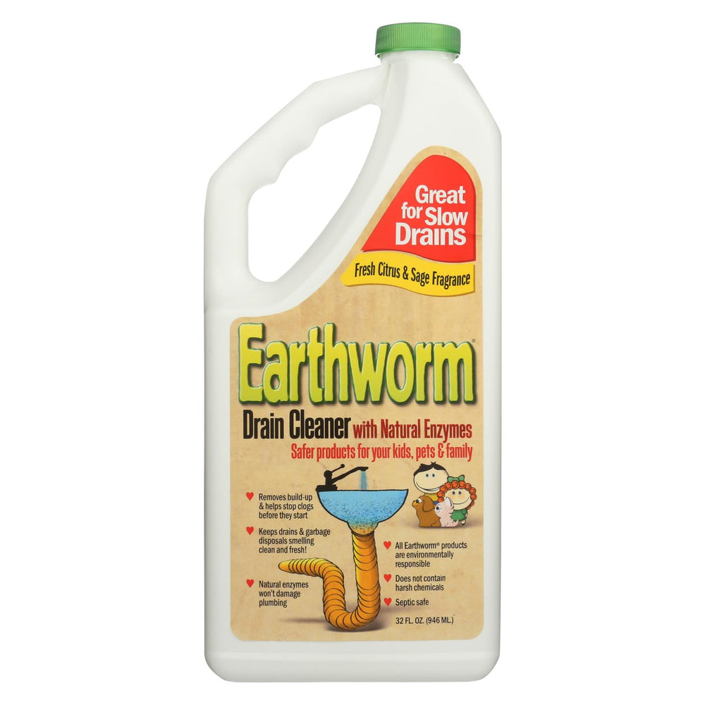 Earthworm Drain Cleaner - Case Of 6 - 32 Fl Oz.