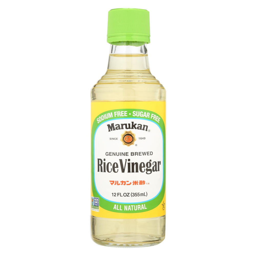 Marukan Rice Vinegar - Genuine Brewed - Case Of 6 - 12 Fl Oz.