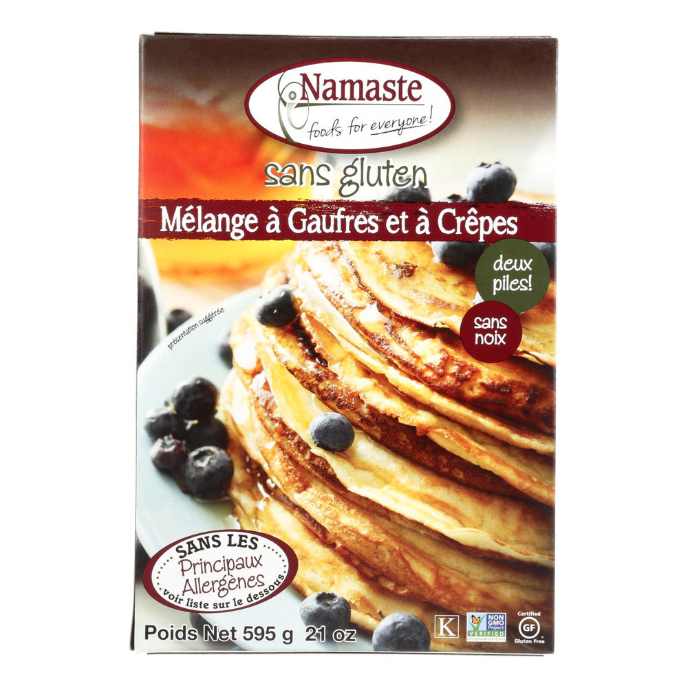 Namaste Foods Gluten Free Waffle And Pancake - Mix - Case Of 6 - 21 Oz.