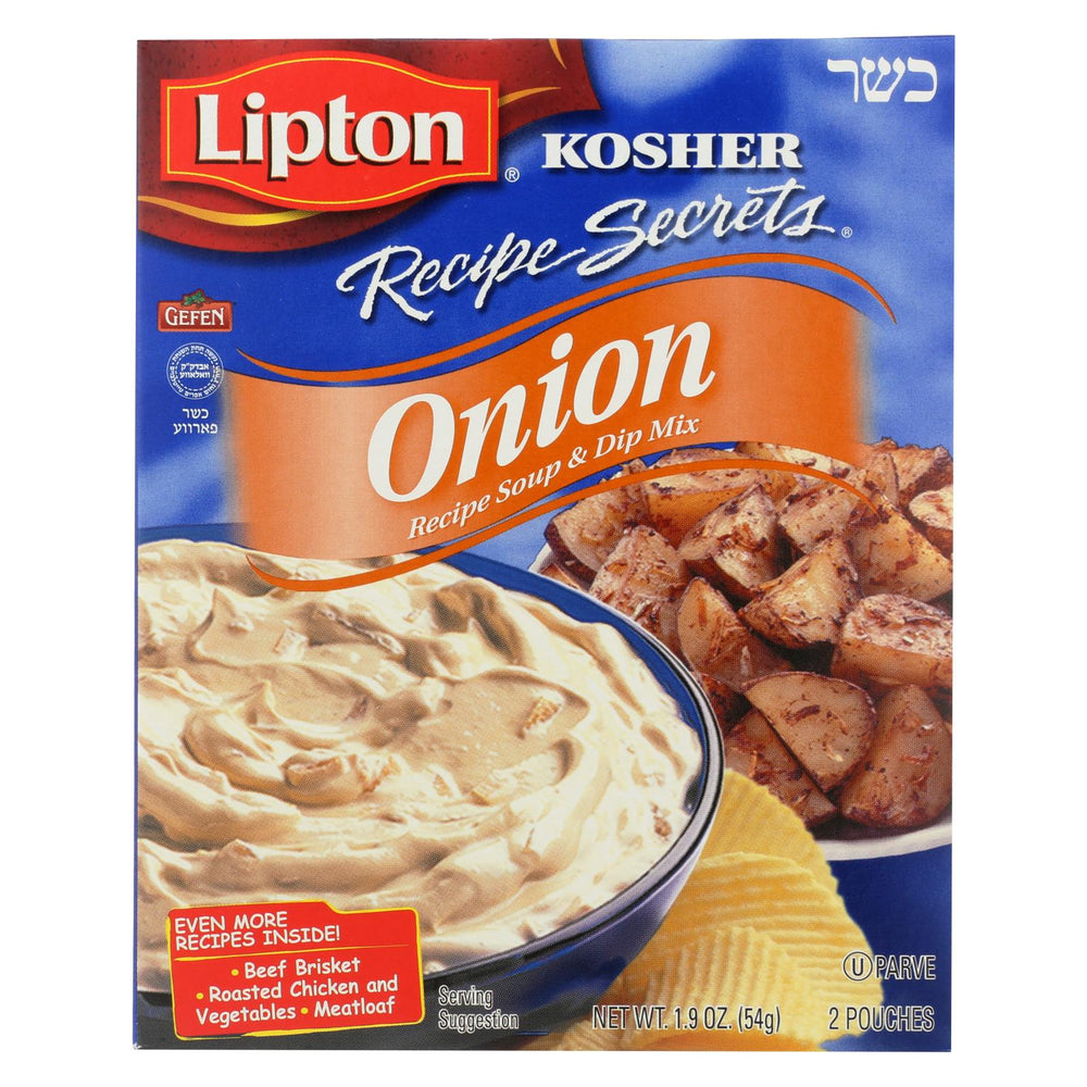 Lipton Kosher Recipe Secrets Onion Soup - Case Of 12 - 1.9 Oz.