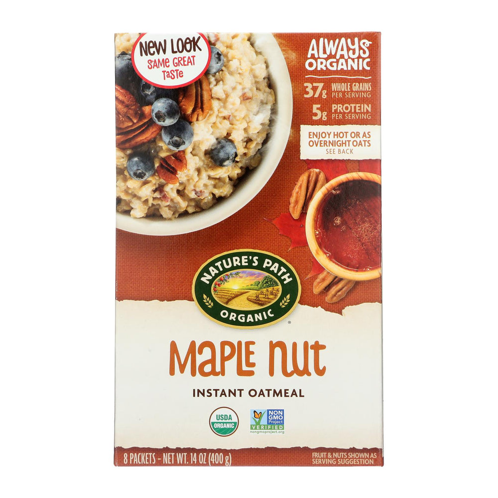 Nature's Path Hot Oatmeal - Maple Nut - Case Of 6 - 14 Oz.