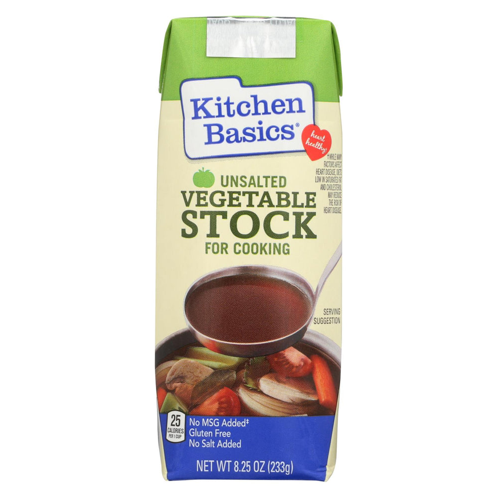 Kitchen Basics Vegetable Stock - Case Of 12 - 8.25 Fl Oz.