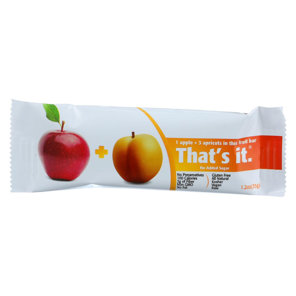 That's It Fruit Bar - Apple And Apricot - Case Of 12 - 1.2 Oz
