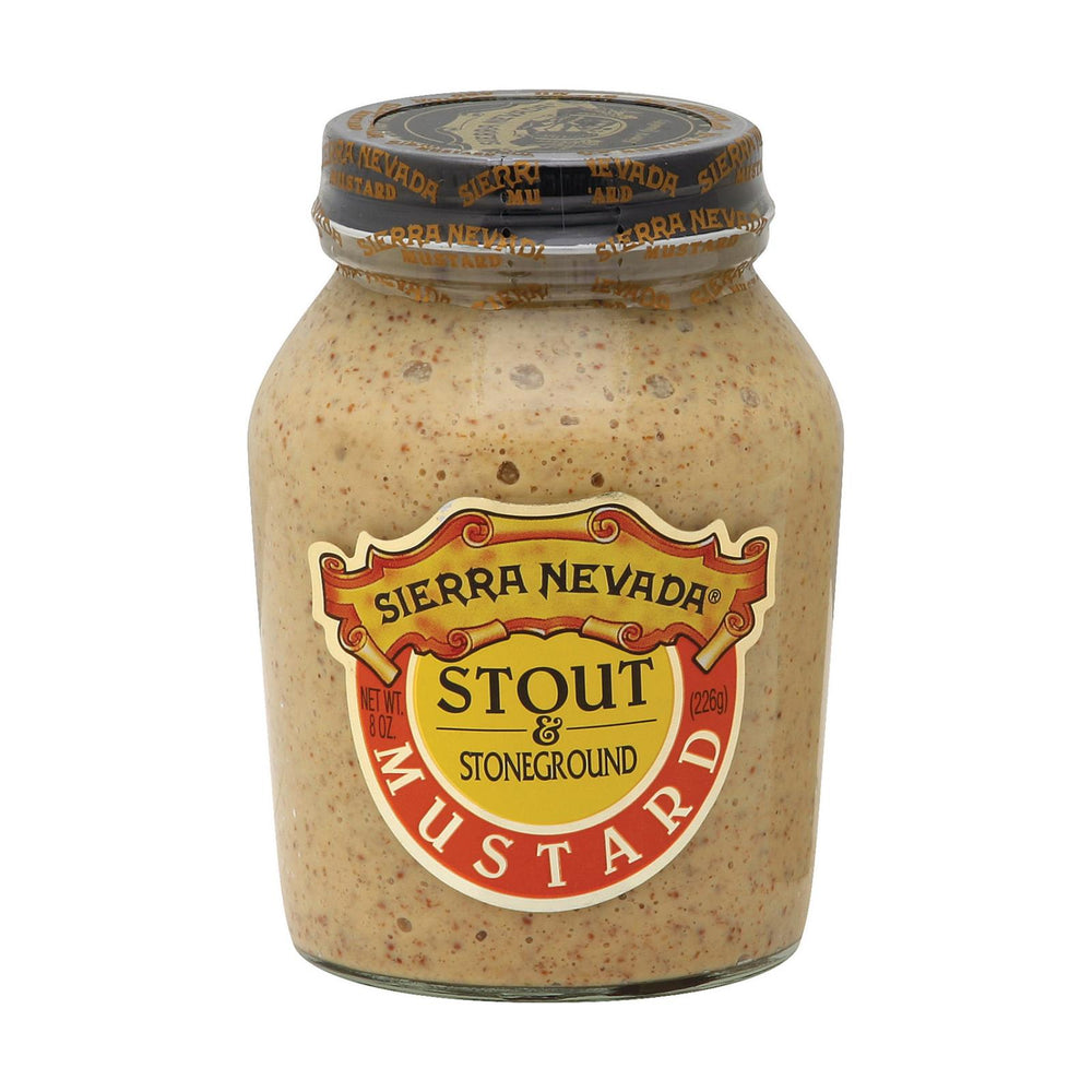 Sierra Nevada Specialty Food Mustard - Stout And Stoneground - Case Of 6 - 8 Oz.