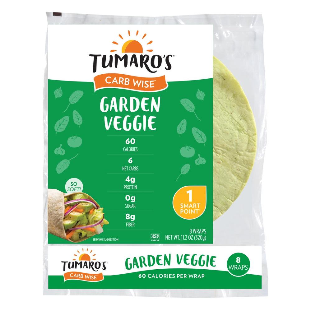 Tumaros Low-in-carb Wraps - Garden Veggie - 8