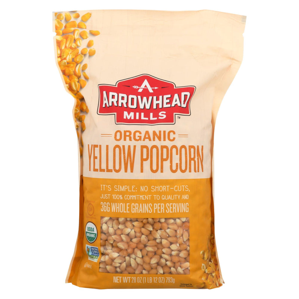 Arrowhead Mills - Organic Popcorn - Yellow - Case Of 6 - 28 Oz.