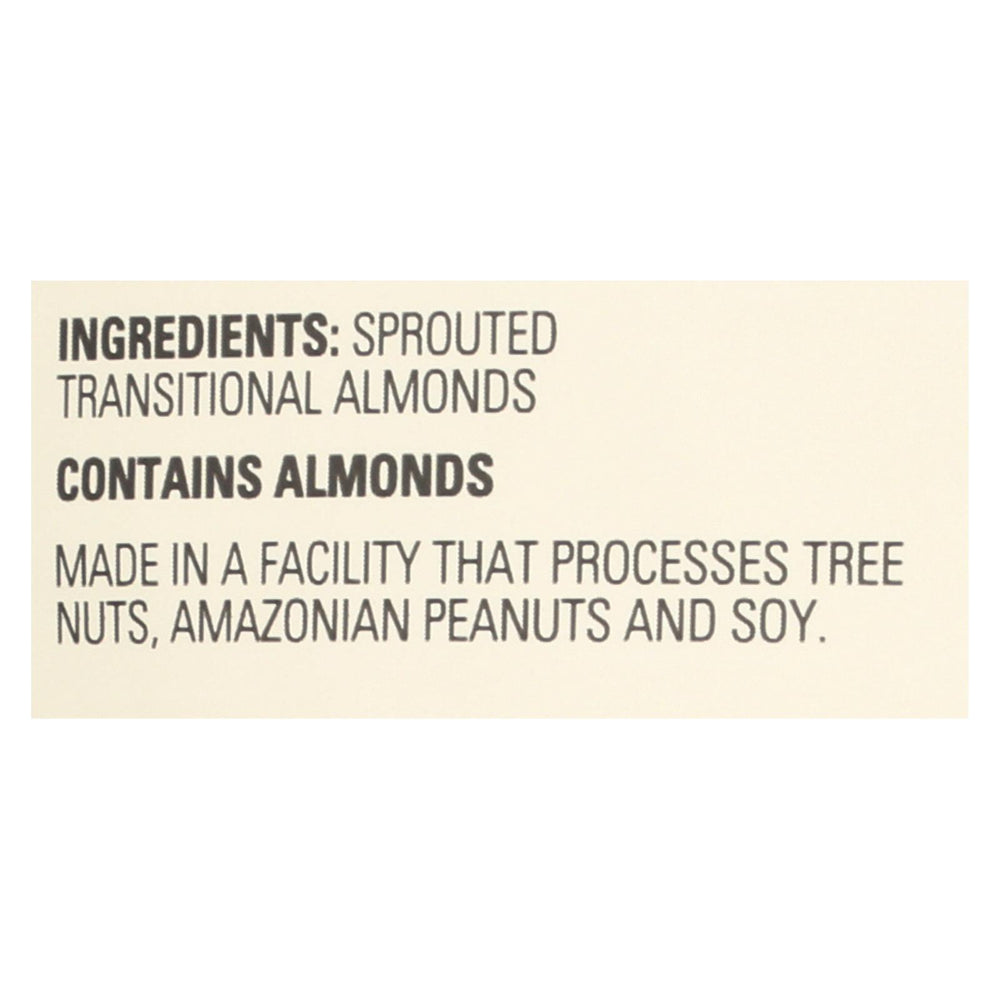 Living Intentions Almonds - Sprouted - Unsalted - 16 Oz - Case Of 4