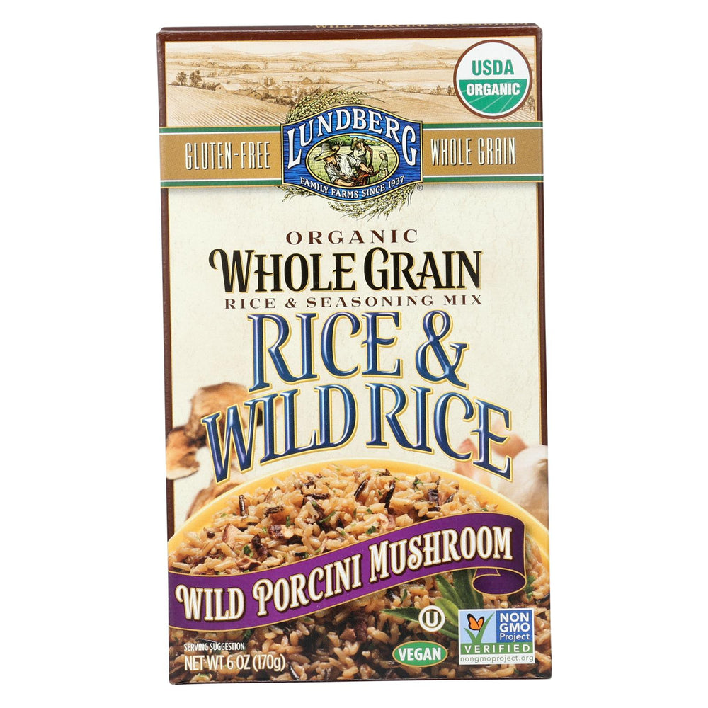 Lundberg Family Farms Whole Grain Rice And Wild Rice - Case Of 6 - 6 Oz.