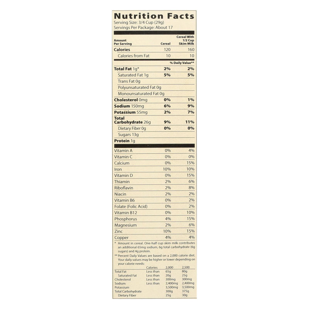 Moms Best Naturals Cereal - Crispy Cocoa Rice - 17.5 Oz - Case Of 14