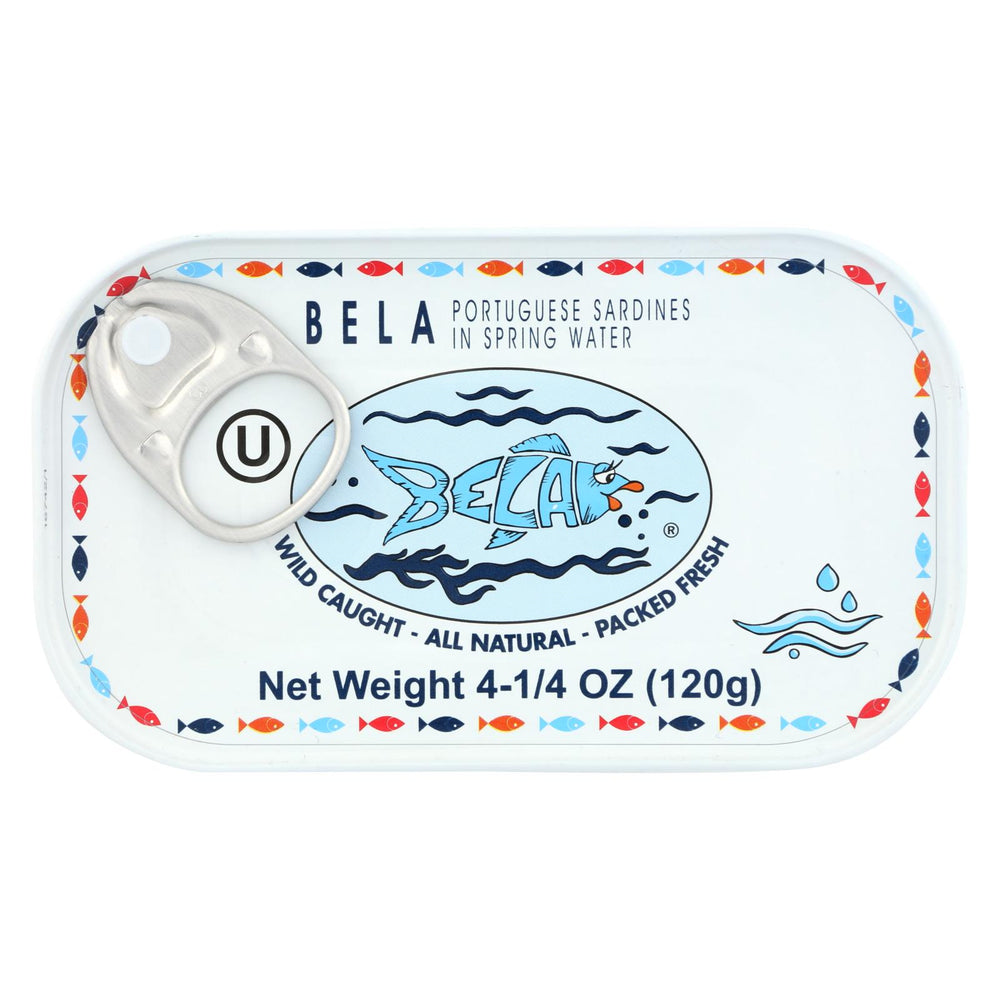 Bela - Olhao Sardines Spring Water - Case Of 12 - 4.25 Oz.