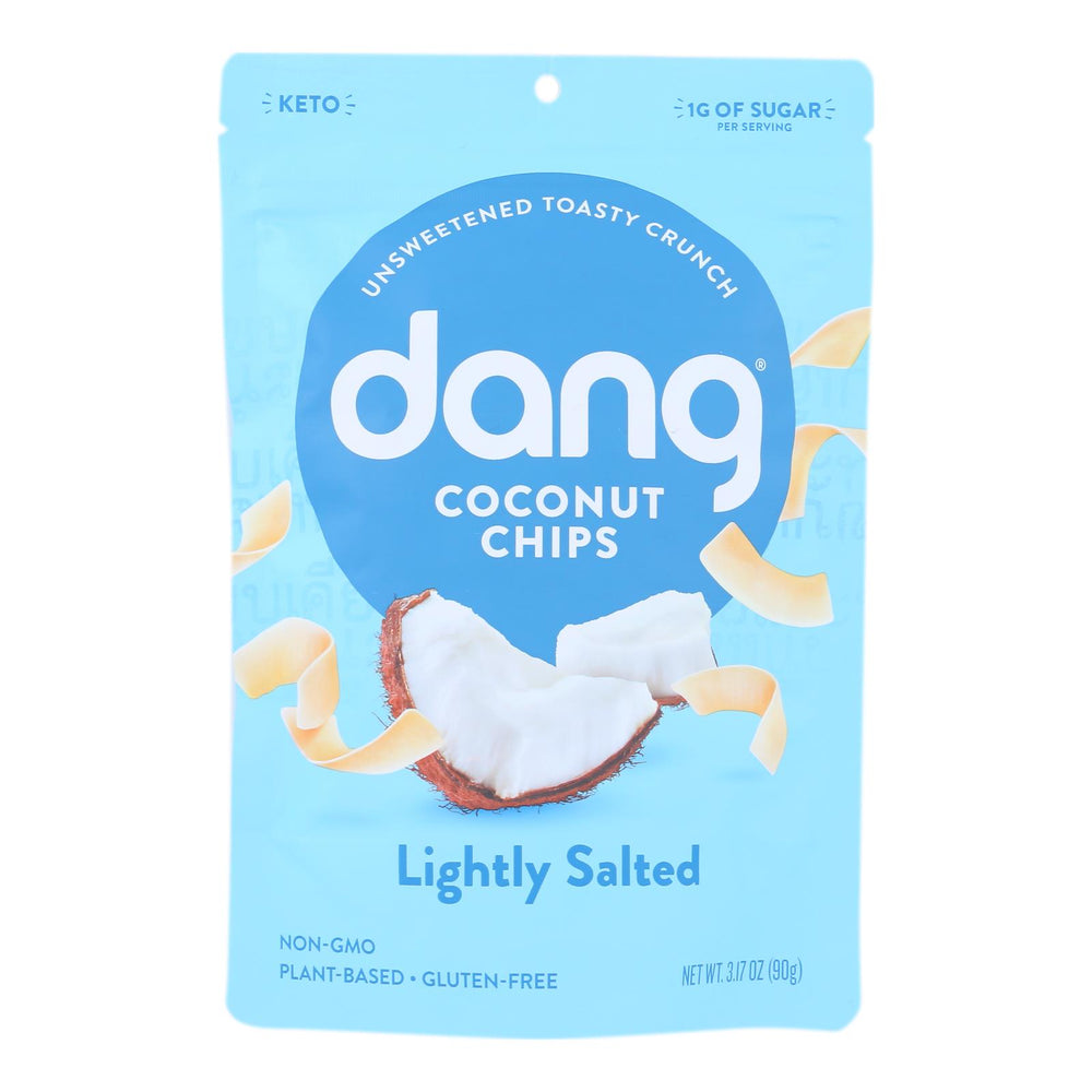 Dang - Toasted Coconut Chips - Lightly Salted - Case Of 12 - 3.17 Oz.