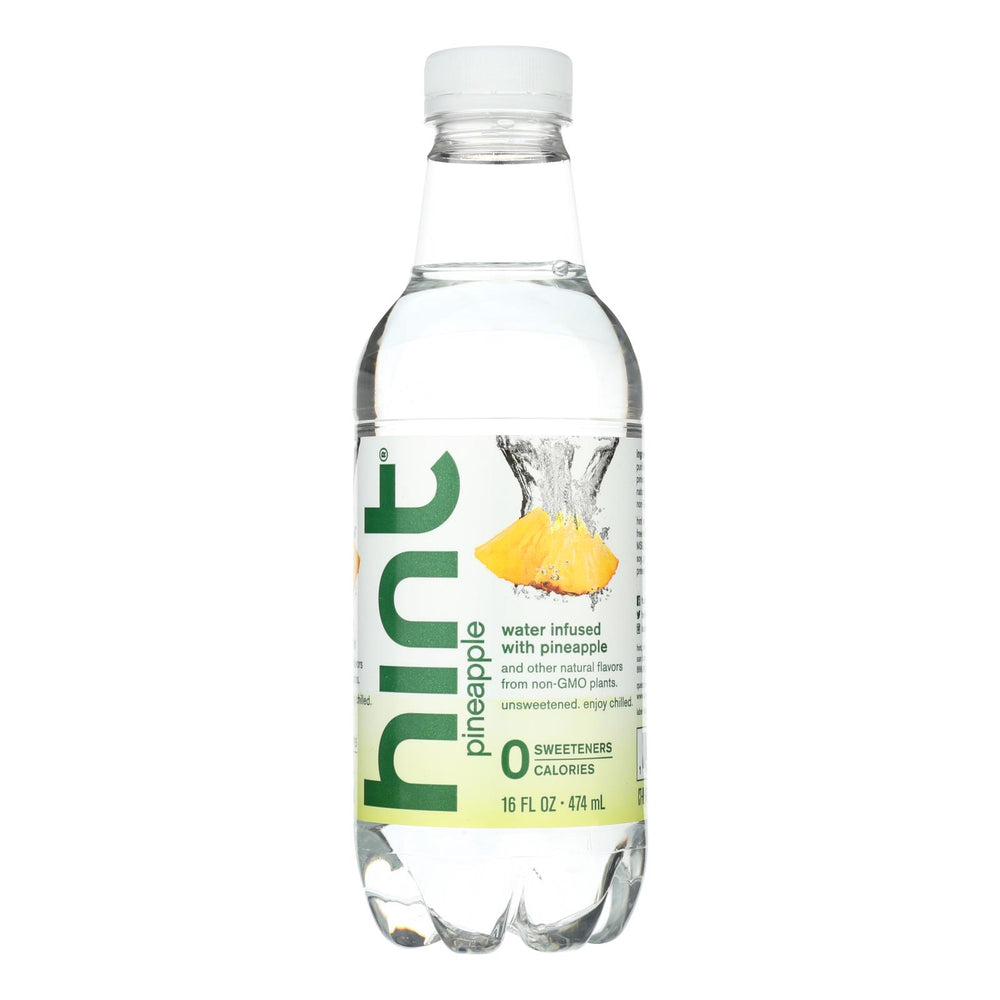 Hint Pineapple Water - Pineapple Unsweetened - Case Of 12 - 16 Fl Oz.