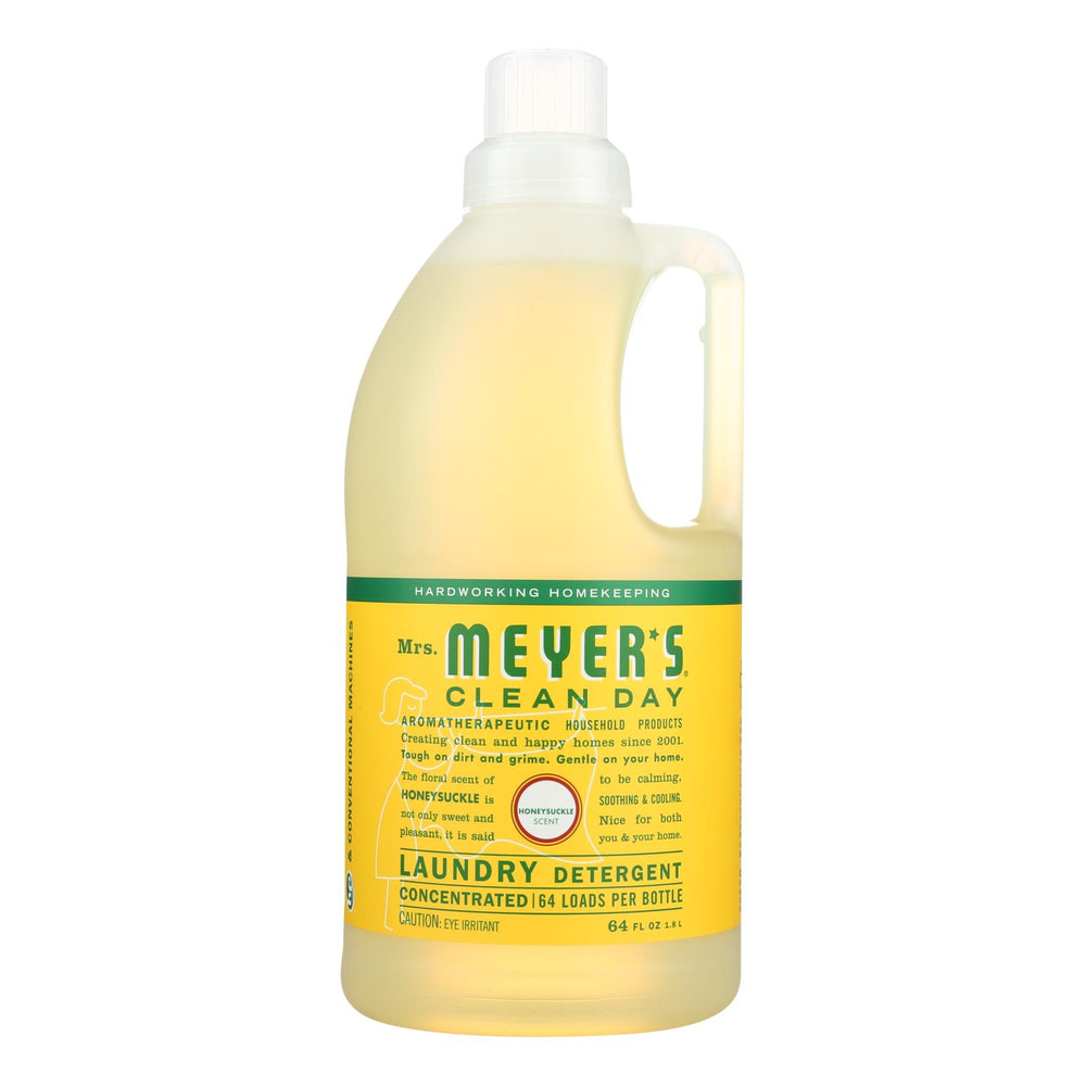 Mrs. Meyer's Clean Day - Laundry Detergent - Honeysuckle - Case Of 6 - 64 Fl Oz.