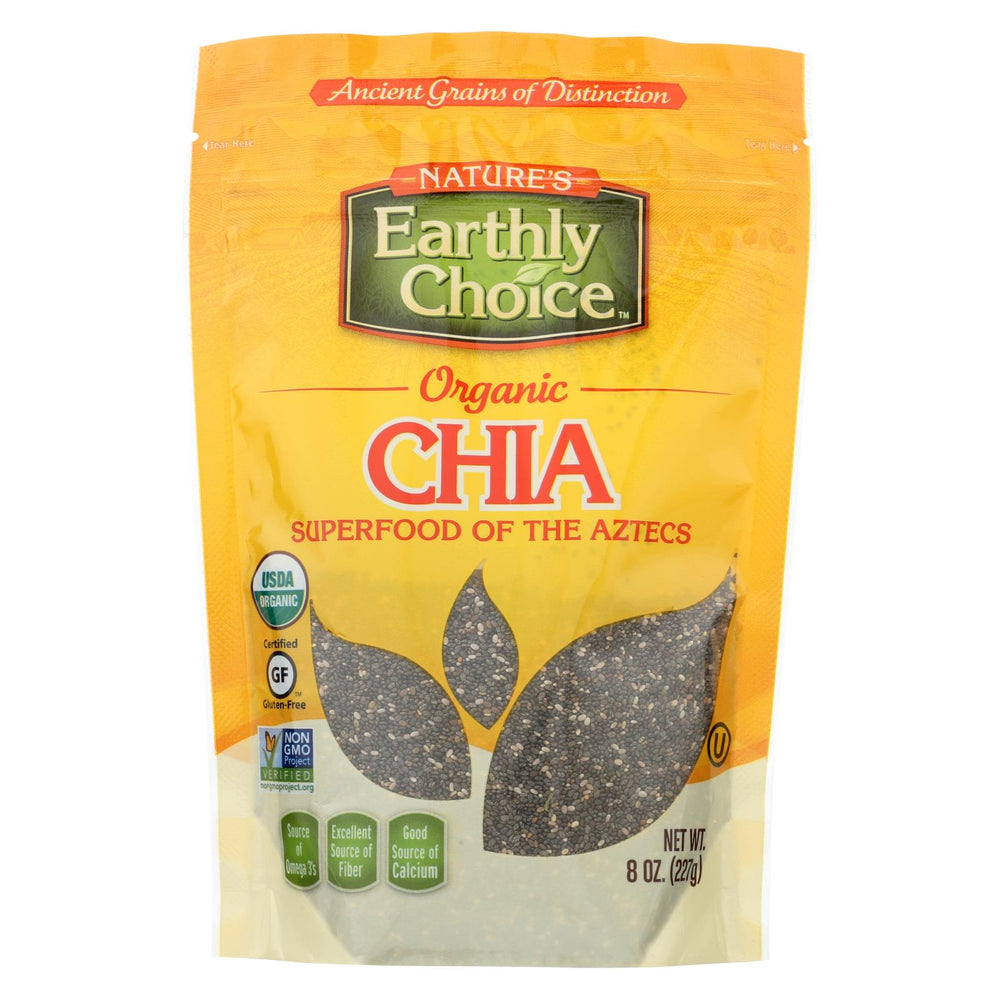 Nature's Earthly Choice Chia Seeds - Case Of 6 - 8 Oz.
